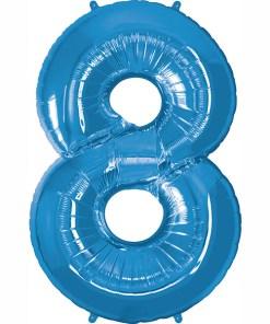 Folie Zahl 8 blau