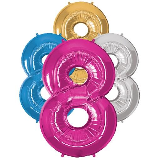 Folie Zahl 8 diverse Farben