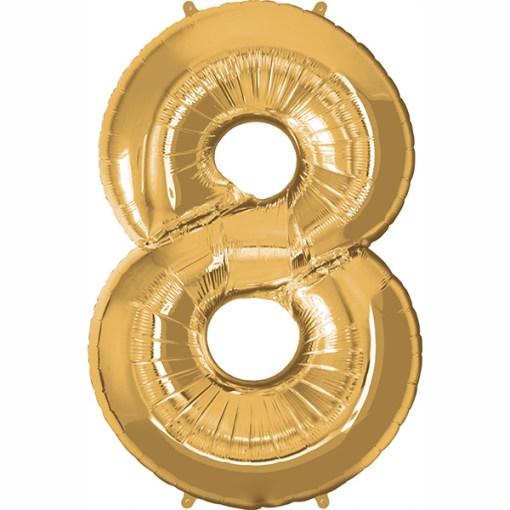 Folie Zahl 8 gold