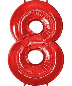 Folie Zahl 8 rot