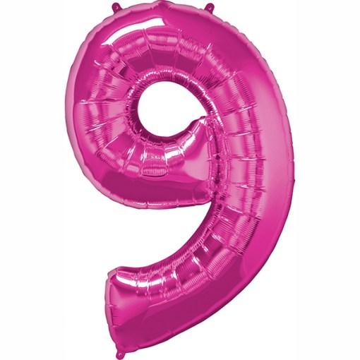 Folie Zahl 9 pink