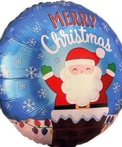 Folienballon Santa im Kamin