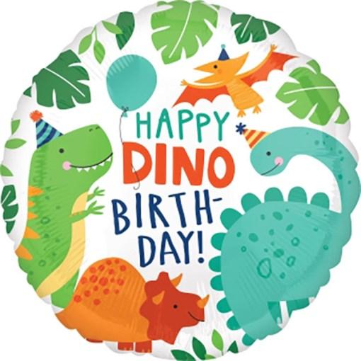 Happy Birthday Ballon Dino