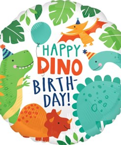 Happy Birthday Ballon Dino