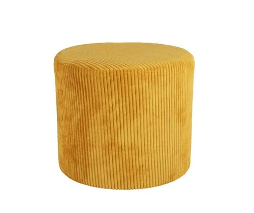 sitzpouf d45cm cord gelb