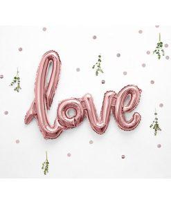 Folienballon Schriftzug Love, 73x59cm, rose gold Dekobeispiel