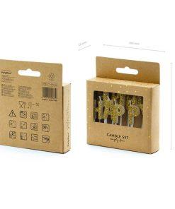 Geburtstagskerzen, Happy Birthday Schriftzug gold, 2,5cm, 13 Stück Packung