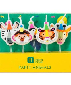 Geburtstagskerzen Partytiere 5 Stück Packung