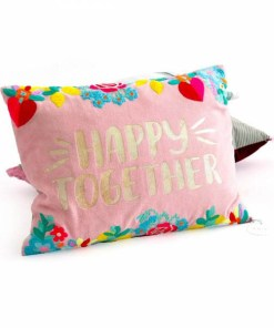 Kissenhülle HAPPY TOGETHER 3040 rose Samt 100% Baumwolle Größe 30x40 cm