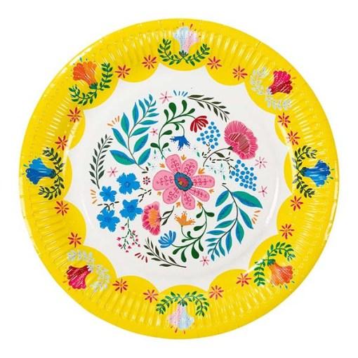 Pappteller Motiv Boho Floral D23cm