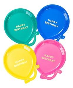 Pappteller Ballon Form 17,5x22cm alle Farben