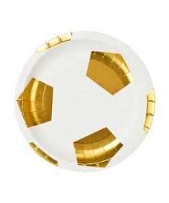 Pappteller Motiv Champion Ball d18cm