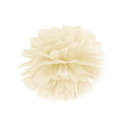 Pompom, Seidenpapier, cream, 25cm