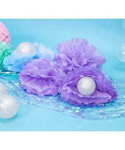 Pompom, Seidenpapier, light lilac, 25cm_Dekobeispiel