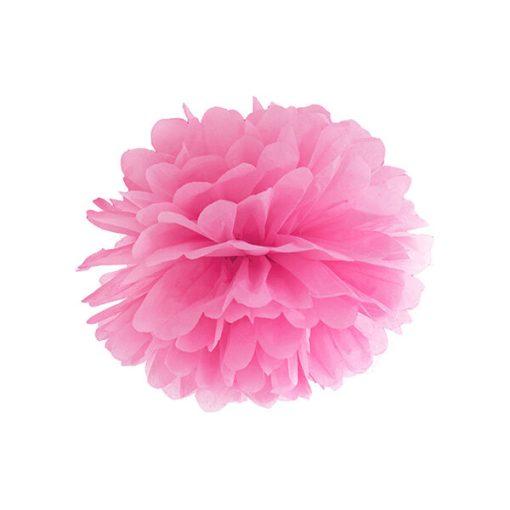Pompom, Seidenpapier, pink, 35cm