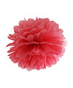 Pompom, Seidenpapier, red, 25cm