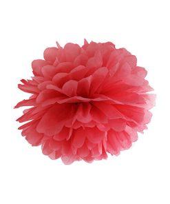 Pompom, Seidenpapier, red, 35cm