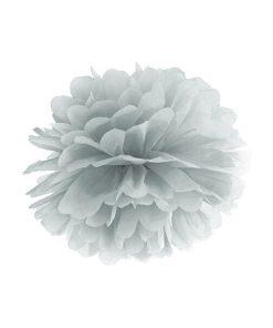 Pompom, Seidenpapier, silver, 25cm