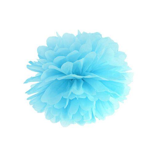 Pompom, Seidenpapier, sky-blue, 25cm