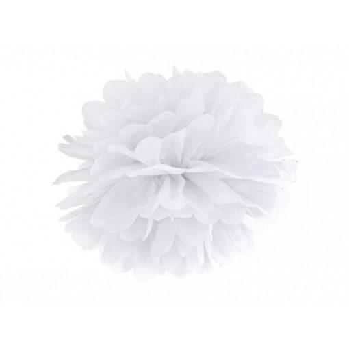 Pompom, Seidenpapier, white, 25cm