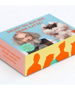 Siehst du aus wie deine Katze, Memo-Spiel, 50Karten mit Booklet, 144x100x47mm Box Seitenansicht