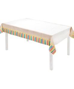 Tischdecke, Papiertischdecke,ECO, Kerzendesign, 80cmx120cm Aufgelegt