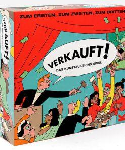 Verkauft! Das Kunstauktionsspiel, Landrein,Box,Spielbrett, Booklet, Karten, 265x265 mm Cover