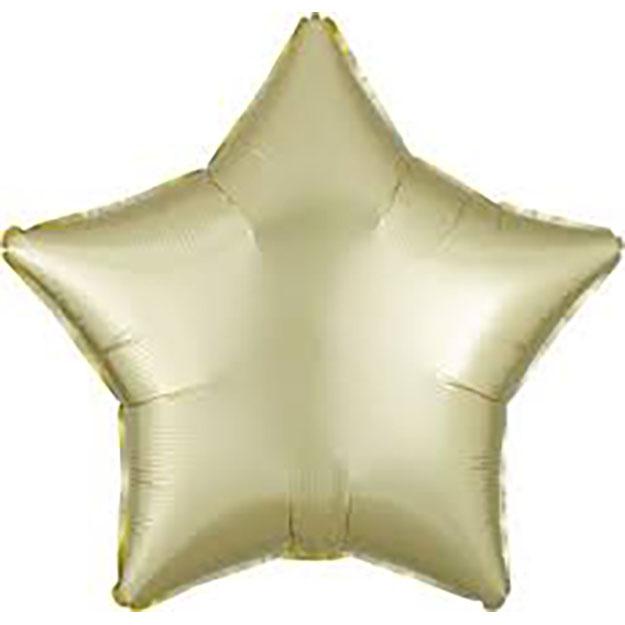 45cm Stern Stern satin champagner