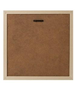 BILDERRAHMEN NEBRASKA 4 KLAMMER TEAKHOLZ Plastik 30,4x30,4x3,3cm Rückseite