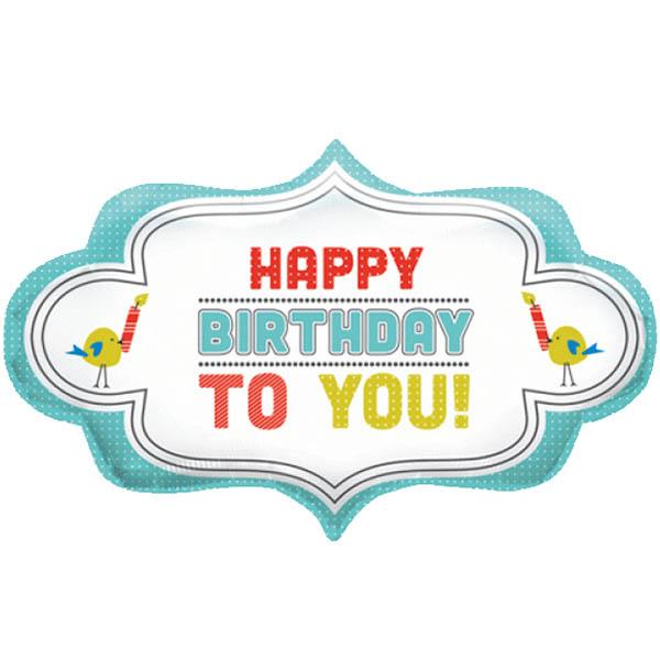 Happy Birthday Frame Folienballon