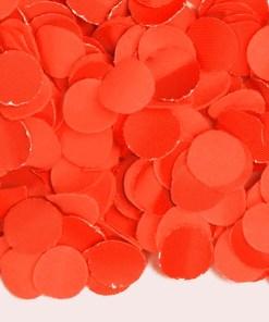 Konfetti, uni orange, Papier 100 gr 1