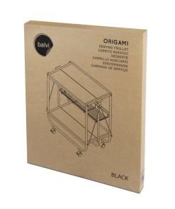 SERVIERWAGEN ORIGAMI FALTBAR SCHWARZ Metal 69x68x40cm Verpackung