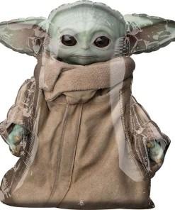Baby Yoda, Star Wars - Der Mandalorianer, Folienballon, Figurenballon, 86cm, Vorderseite