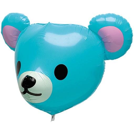 Bär, Blau, Folienballon, 50cm