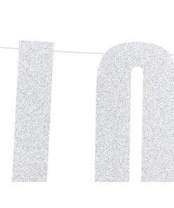 Banner Love, silver, 21x55cm, 2m Schnur_02