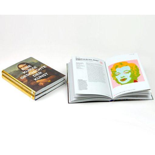 Eine kurze Geschichte der Kunst, Softcover mit Klappen, 224 Seiten, 148 x 210mm, liegend und aufgeklappt