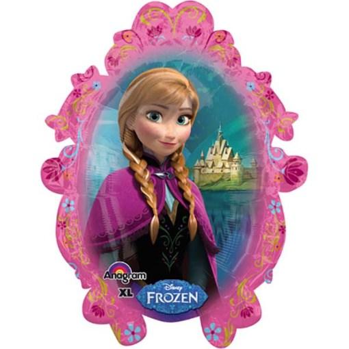 Elsa im ovalen Rahmen, Folienballon, Rückseite 63 x 78cm