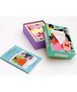 Feministinnen-Orakel, Lebenshilfe und Inspiration, 50Karten, 120x160x50mm Box offen 1