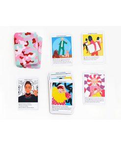 Feministinnen-Orakel, Lebenshilfe und Inspiration, 50Karten, 120x160x50mm Kartenbeispiel
