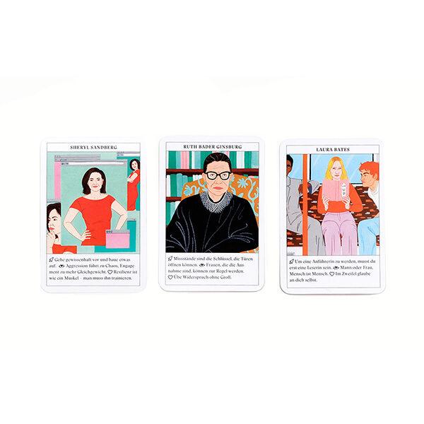 Feministinnen-Orakel, Lebenshilfe und Inspiration, 50Karten, 120x160x50mm Kartendetails