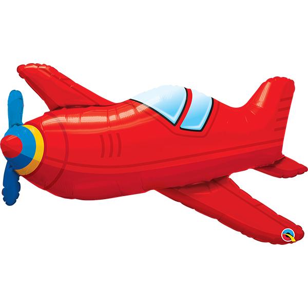 Flugzeug Rot_Folienballon_b91cm