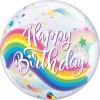 Happy Birthday, Rainbow, Bubble, 56cm, Vorderseite