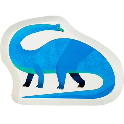 Pappteller, Dino, Brachiosaurus, 28 x 21cm