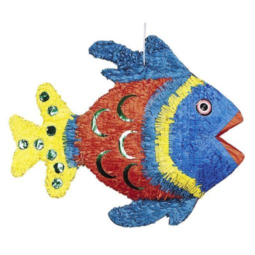 """Pinata """"Fisch"""", Pappmasché bunt 35 x 53cm"""