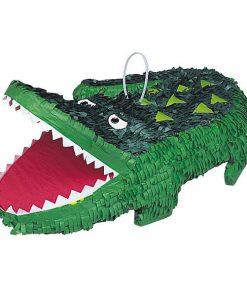 Pinata Krokodil, Pappmasché grün 45 x 33 cm