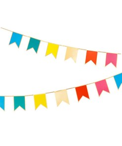 Fahnenkette, Wimpelkette, 6 verschiedene Farben, circa 3m lang