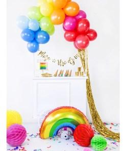Regenbogen, Folienballon, 73x45cm Dekobeispiel 2