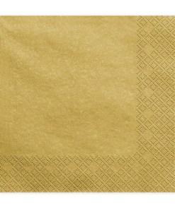 Servietten, gold metallic, dreilagig, 20 Stk., 33 x 33 cm