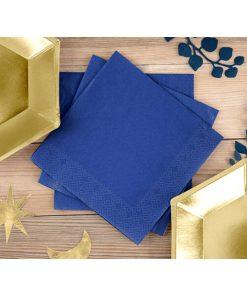 Servietten, königsblau, dreilagig, 20 Stk., 33 x 33 cm, Dekobeispiel