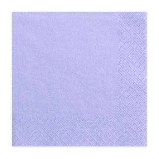 Servietten, lavendel, dreilagig, 20 Stk., 33 x 33 cm